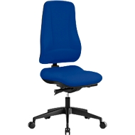 Prosedia Bürostuhl LEANOS V KOMFORT, Synchronmechanik, ohne Armlehnen, hohe Rückenlehne, Knierolle, blau/schwarz