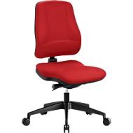 Prosedia Bürostuhl LEANOS V KOMFORT, Synchronmechanik, ohne Armlehnen, Lordosenstütze, Knierolle, rot/schwarz