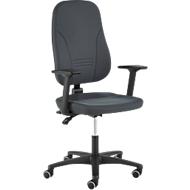 Prosedia Bürostuhl Younico plus 3, mit Armlehnen, Permanent Kontakt, Muldensitz, 3D-Rückenlehne, anthrazit/anthrazit