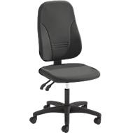 Prosedia Bürostuhl YOUNICO plus 3, Permanentkontakt, ohne Armlehnen, 3D-Rückenlehne, anthrazit