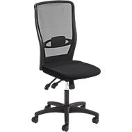 Prosedia Bürostuhl YOUNICO PLUS 8 Design, Synchronmechanik, ohne Armlehnen, Lordosenstütze, schwarz/schwarz