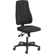 Prosedia Bürostuhl YOUNICO PLUS 8, Synchronmechanik, ohne Armlehnen, hohe 3D-Rückenlehne, schwarz