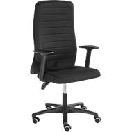 Prosedia bureaustoel ECCON plus-3, met armleuningen, permanent contact, vlakke zitting, 3D-rugleuning, zwart/zwart