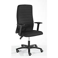 Prosedia bureaustoel ECCON plus-3, permanent contact, met armleuningen, rugleuning met vormschuim en lordosesteun, vlakke zitting