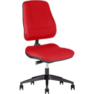 Prosedia bureaustoel LEANOS V ERGO, synchroonmechanisme, zonder armleuningen, ergonomisch gevormde wervelsteun, rood/zwart