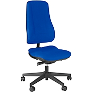 Prosedia bureaustoel LEANOS V ERGO, synchroonmechanisme, zonder armleuningen, hoge rugleuning, blauw/zwart