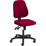Prosedia bureaustoel YOUNICO PLUS 8, synchroonmechanisme, zonder armleuningen, lage 3D-rugleuning, bordeaux