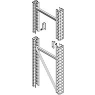 Protection des façades de rayonnages pour cadre P 850 mm, montant l. 75 mm