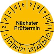 Prüfplakette, Nächster Prüftermin (2019-2024), ø 30 mm, 500 Stück