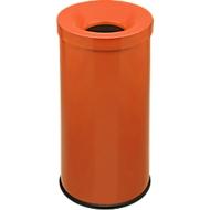 Prullenbak Cocorito, vuurvast, inhoud 50 liter, met deksel, oranje