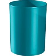 Prullenbak rondofix, 18 liter, Ø 270 x H 336 mm, RAL 5021 waterblauw