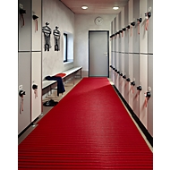 PVC-Badematte, 800 mm breit, rot