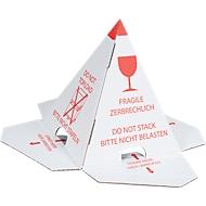 Pyramide de protection de pile, chapeaux de palettes, autocollante, 25 pièces