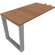 QUANDOS BOX aanbouwtafel, slede-onderstel, rechthoek, b 1200 x d 600 x h 720-820 mm, kersen-Romana