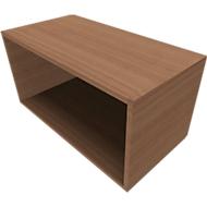 QUANDOS BOX boekenkast, 1 OH, B 800 x D 420 x H 374 mm, kersen Romana-decor