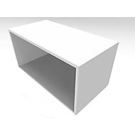 QUANDOS BOX boekenkast, spaanplaat, 1 OH, B 1000 x D 420 x H 374 mm, wit
