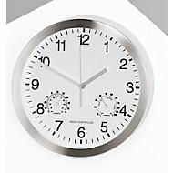 Quarz-Wanduhr m. Thermo-/u. Hygrometer, weiß