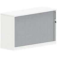 Querrollladen-Ansatzschrank BEXXSTAR, 1,5 Ordnerhöhen, B 1200 x T 420 x H 740 mm, weiß
