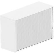 Querrollladen-Aufsatzschrank BEXXSTAR, 2 Ordnerhöhen, Sichtrückwand, B 1200 x T 445 x H 740 mm,