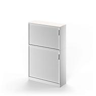 Querrollladen-Kombination TETRIS SOLID, 5 OH, B 1200 mm, Grundschrank + Aufsatzschrank, weiß/weißalu