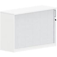 Querrollladenschrank BEXXSTAR, 2 Ordnerhöhen, Sichtrückwand, H 825 mm, weiß