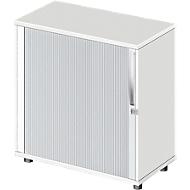 Querrollladenschrank LOGIN, 2 Ordnerhöhen, abschließbar, B 800 x T 420 x H 744 mm, weiß