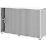 Querrollladenschrank TEQSTYLE, rechts öffnend, abschließbar, B 1200 x H 745 mm, weiß