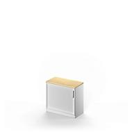 Querrollladenschrank TETRIS SOLID, 1,5 OH, B 800 x H 717 mm, 1 Ablagefach, inkl. 25 mm Abdeckplatte, Ahorn-Dekor/weißalu/weißalu