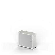 Querrollladenschrank TETRIS WOOD, 2 OH, B 1000, Höhe inkl. Gleiter, Sockel (optional), lichtgrau