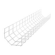R-Go Steel Basic Kabelschacht, silber Kabelmanagementfach