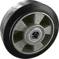 Rad, Elastic, schwarz, 100x40 mm, ohne Feststeller