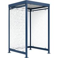 Raucherüberdachung Köln, Schäfer Shop Edition, enzianblau RAL5010