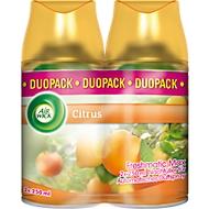 Raumspray Air Wick Citrus, Duo-Pack 2 x 250 ml, Nachfüller für Freshmatic-Max-Geräte, für bis zu 60 Tage