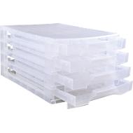 Really Useful Box opbergtoren, transparant, 4 schuifladen