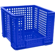 Really Useful Boxes Gitterbox, 35 Liter, Öffnung vorne, blau