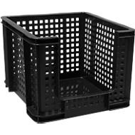 Really Useful Boxes Gitterbox, 35 Liter, Öffnung vorne, schwarz