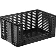Really Useful Boxes Gitterbox, 64 Liter, Öffnung vorne, schwarz