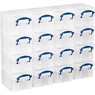 Really Useful Boxes Organizer Pack, 16 x 0,14 liter bakken, transparant, van PP
