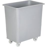 Rechteckbehälter, Kunststoff, fahrbar, 135 l, grau