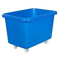 Rechteckbehälter, Kunststoff, fahrbar, 227 l, blau