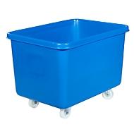 Rechteckbehälter, Kunststoff, fahrbar, 340 l, blau