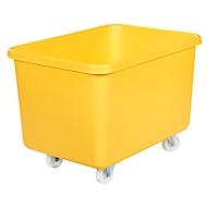 Rechteckbehälter, Kunststoff, fahrbar, 340 l, gelb