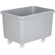 Rechteckbehälter, Kunststoff, fahrbar, 340 l, grau