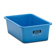 Rechteckbehälter Standard, GFK, 100 l, blau