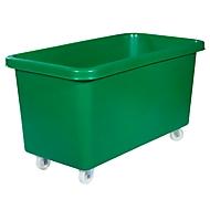 Rechthoekige container, kunststof, verrijdbaar, 450 l, groen