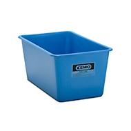 Rechthoekige container Standaard, GFK, 300 l, blauw