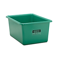 Rechthoekige container Standaard, GFK, 550 l, groen