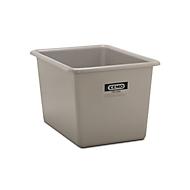 Rechthoekige container Standaard, GFK, 700 l, grijs