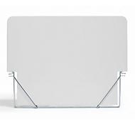 Reclamebord voor stoepbord A1, wit, voor individueel opschrift