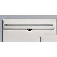 Recycling-Briefumschläge, DIN lang kompakt, ohne Fenster, selbstklebend